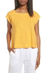 Eileen Fisher Women's Hemp And Organic Cotton Knit Crop Top Orangeade