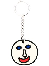 Christopher Kane Face Keyring Women Steel Silver Brass Silicone One Size