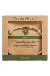 Mantraband Women's Breathe Engraved Cuff Silver