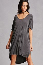 Forever 21 Faded High Low Dress Black