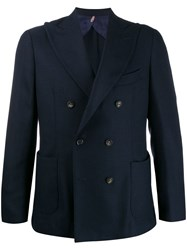 Dell'oglio Double Breasted Blazer Blue