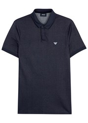 Armani Jeans Indigo Stretch Denim Polo Shirt