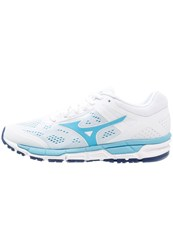 Mizuno Synchro Mx 2 Neutral Running Shoes White Norse Blue Blue Depths