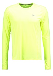 Nike Performance Long Sleeved Top Volt Reflective Silver Neon Yellow