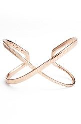 Kendra Scott Women's Stella Crossover Cuff White Cz Rose Gold
