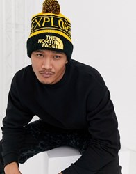 The North Face Retro Pom Beanie In Yellow