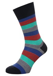 Burlington Varied Socks Marine Blue