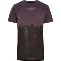 River Island Purple Tie Dye Print Burnout T Shirt