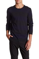 The Kooples Long Sleeve Crewneck Shirt Black