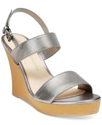 Callisto Athena Alexander By Beryl Platform Wedge Sandals Women's Shoes Pewter