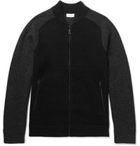 Club Monaco Two Tone Cashmere Blend Cardigan Black