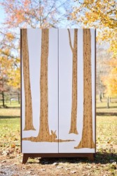 Iannone Design Trees Walnut St.Armoire White