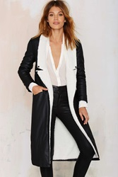 Nasty Gal Nightwalker Batallion Sherpa Duster Coat