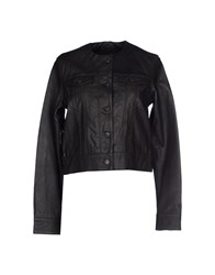 Levi's Blue Coats And Jackets Jackets Women Black
