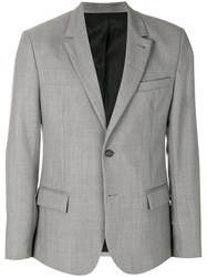 Ami Alexandre Mattiussi Two Buttons Lined Jacket Grey