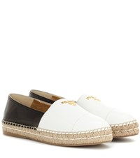 Prada Leather Espadrilles White
