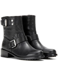 Calvin Klein Jeans Mytheresa.Com Exclusive Embellished Leather Ankle Boots Black