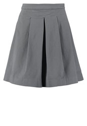 Opus Ramita Pleated Skirt Urban Grey Anthracite