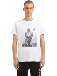 Les Benjamins Kurt Cobain Printed Cotton T Shirt