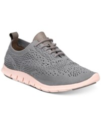Cole Haan Zerogrand Stitchlite Oxford Sneakers Women's Shoes Grey Ironstone