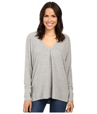 Project Social T Kinley Front Tuck Long Sleeve Grey Women's Clothing Gray