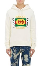 Gucci Men's Cotton Terry Hoodie Ivory