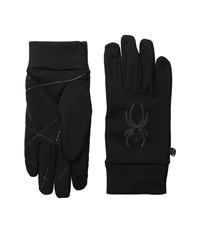 Spyder Stretch Fleece Conduct Glove Black 1 Ski Gloves