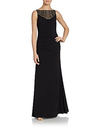 Js Boutique Ruched Jersey Gown Black