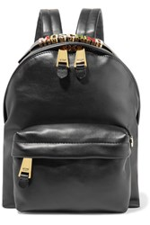 Moschino Embellished Leather Backpack Black