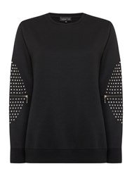 Label Lab Studded Elbow Sweat Black