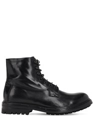 Officine Creative Exeter Leather Lace Up Boots Black