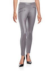 Hue Zippered Leggings Graphite