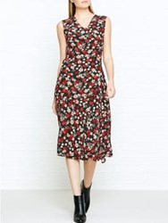 Paul Smith Ps By Floral Print Midi Dress Red