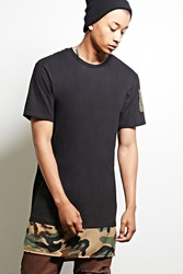 Forever 21 Cross Colours Camo Hem Tee Black Olive