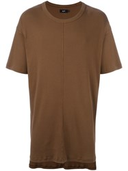 Blood Brother 'Captain' Ribbed T Shirt Brown