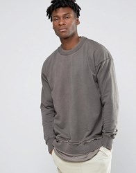 Other Uk Oversized Sweatshirt With Raw Edges Clay Grey