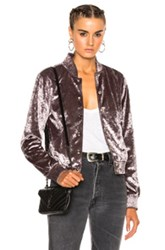 Theperfext Ashley Bomber Jacket In Gray Metallics Gray Metallics
