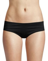 Coco Reef Shirred Bikini Bottom Black