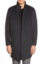 Men's Vince Camuto Laminated Topcoat Charcoal
