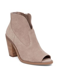 Jessica Simpson Chalotte Suede Peep Toe Booties Taupe