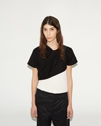 Phoebe English Twisted Knit T Shirt Black