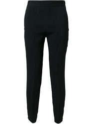 Forte Forte Textured Slim Trousers Black