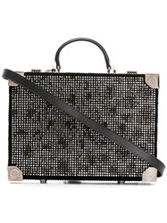 Philipp Plein Maculate Crystal Embellished Box Bag Black