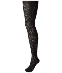Smartwool Floral Scrolls Tight Black Hose