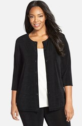 Plus Size Women's Vikki Vi Three Quarter Sleeve Cardigan