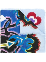 Mary Katrantzou Heart Flames Scarf Multicolour