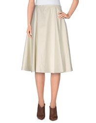 Douuod Skirts 3 4 Length Skirts Women Ivory
