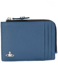 Vivienne Westwood Milano Zip Cardholder Men Cotton Leather One Size Blue