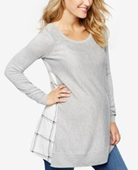 A Pea In The Pod Maternity Cross Back Sweater Heather Grey