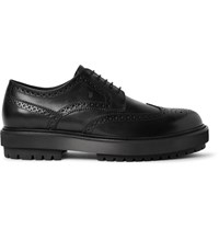 Tod's Leather Wingtip Derby Shoes Black